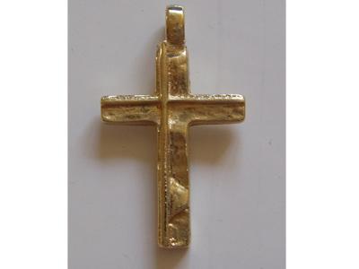 selbst gegossenes Kreuz in Gelbgold 585