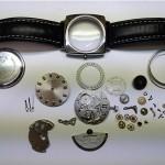 Armbanduhr Glasshütte vollständig demontiert
