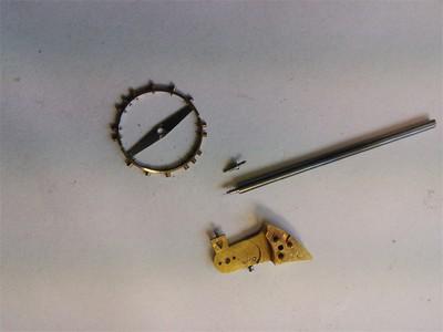 Herstellung einer Unruhwelle für eine Taschenuhr