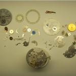 Omega Chronograph demontiert