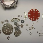 Saiko Armbanduhr komplett demontiert