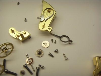 Taschenuhrwerk Kleinteile