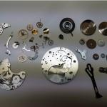 Vintage Handaufzug Chronograph komplett zerlegt