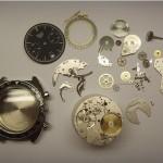 Vintage Heuer Chronograph Autavia komplet zerlegt