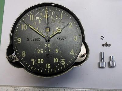 Russische Flugzeuguhr Ziffernblatt